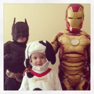 Batman Jordan, Puppy Jansen and Ironman Jacob