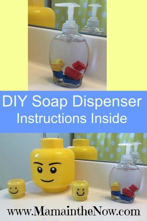 DIY LEGO soap dispenser for your LEGO bathroom. This a great way to get your kids to actually wash their hands!