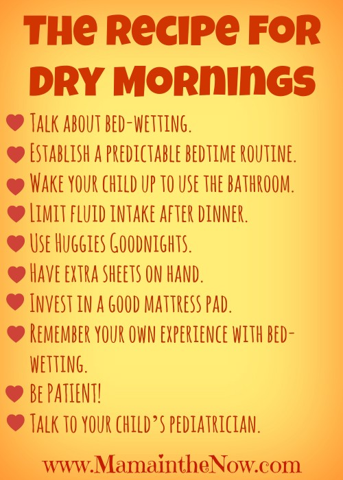 Ten steps to dry mornings