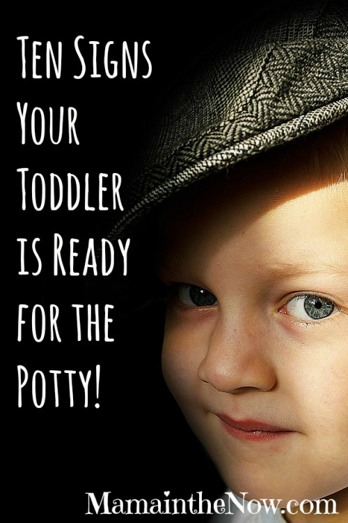 Ten Signs Your Toddler is Potty Ready. Watch for all ten signs before you start potty training. It will make the entire process run smoother! I promise!