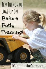Ten Things to Load up on Before Potty Training
