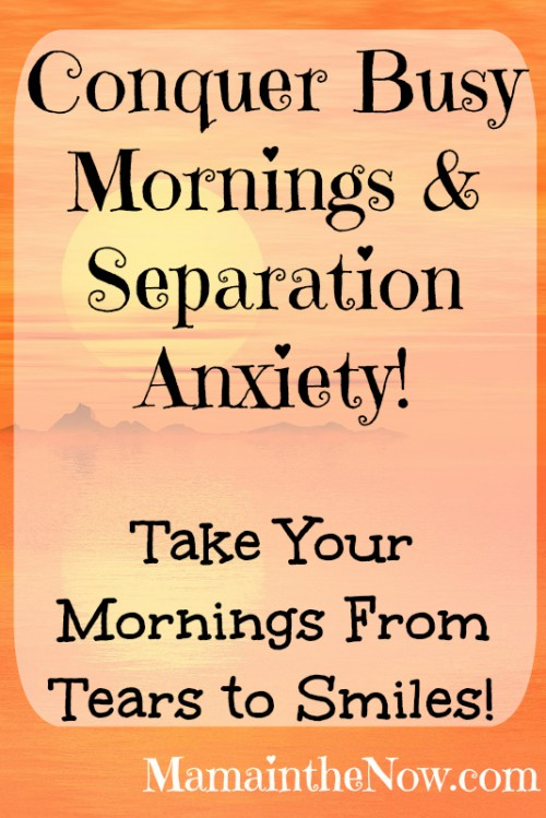 Conquer Busy Mornings and Separation Anxiety. Tips from a working mother of four!