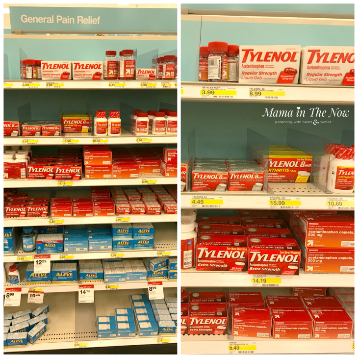 The Tylenol aisle at Target