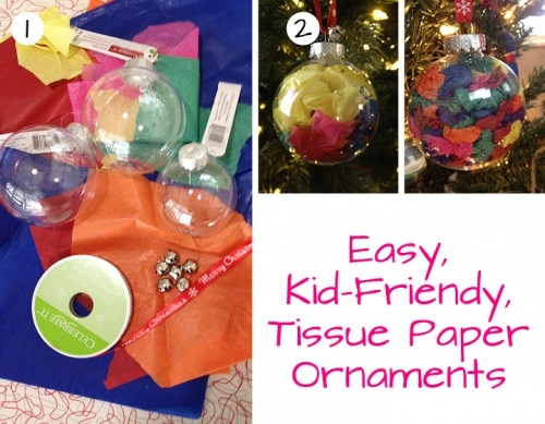 Adorable Kid-friendly tissue paper ornaments