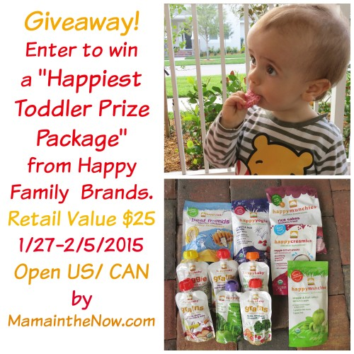 Giveaway Happiest Toddler Prize Package from Happy Family Brands