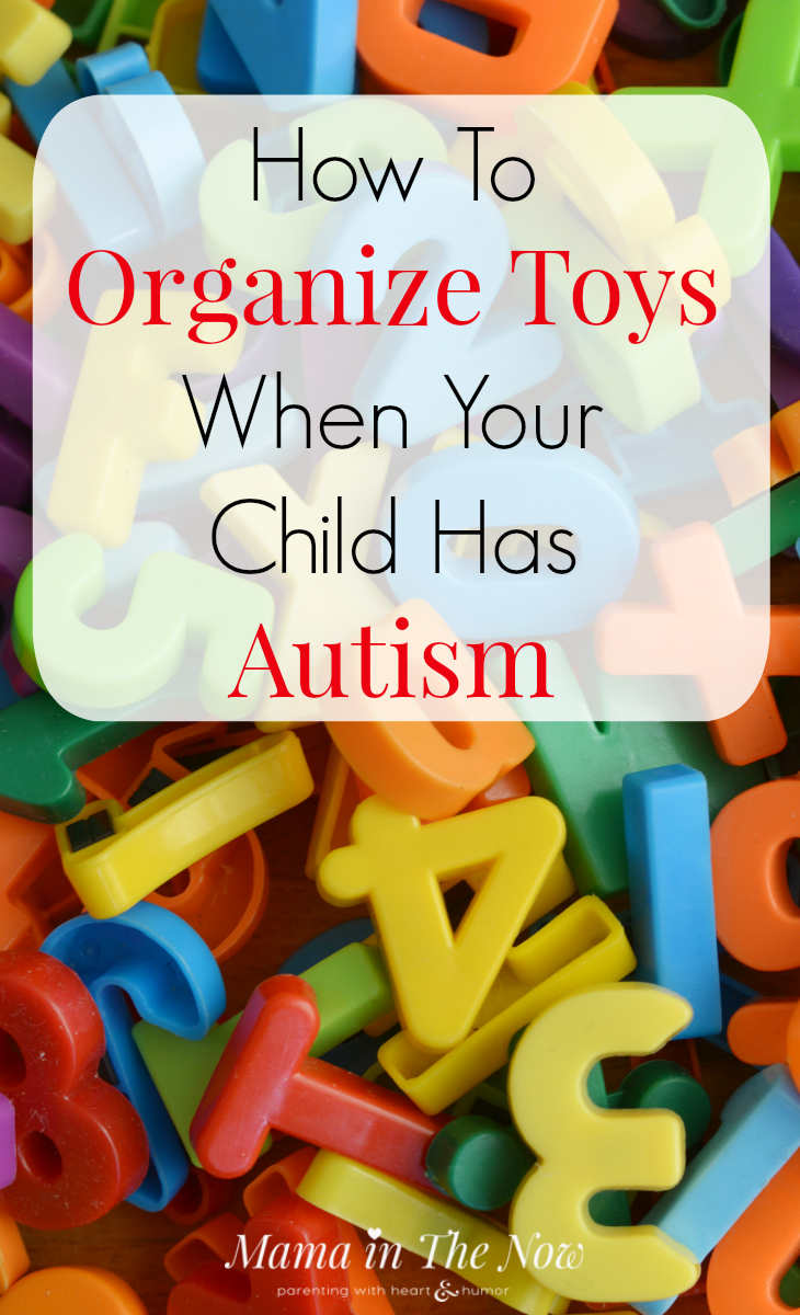 Learn how to organize toys and the playroom for kids on the Autism Spectrum. Special needs moms need these tips and tricks from a professional organizer. Toys Autism