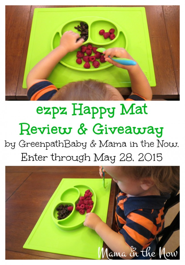 ezpz Happy Mat Review and Giveaway through May 28, 2015