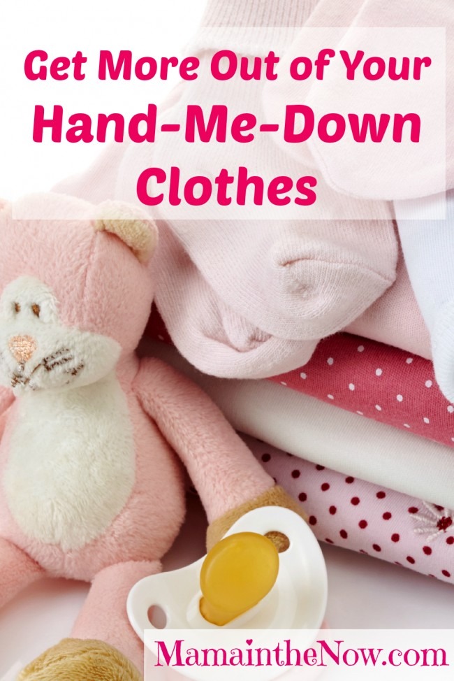 Get more out of your hand-me-down clothes. Money saving tips from a mother of four boys who rarely ever buys kids' clothes! MUST READ!