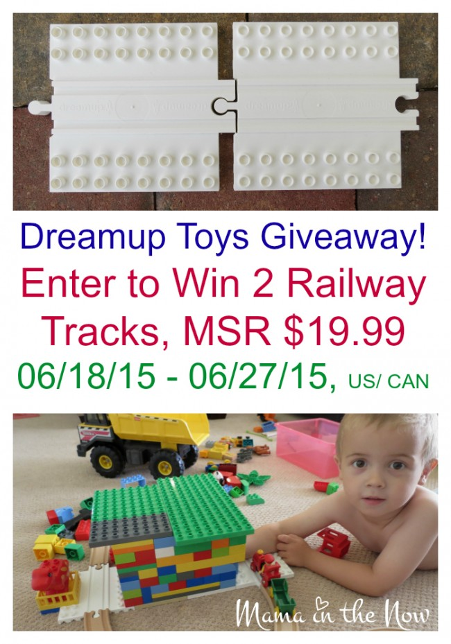Dreamup Toys unites the best toys ever made: DUPLO and wooden railway tracks. Your kids will keep building for years to come! #KeepBuilding Giveaway ends 06/27/19