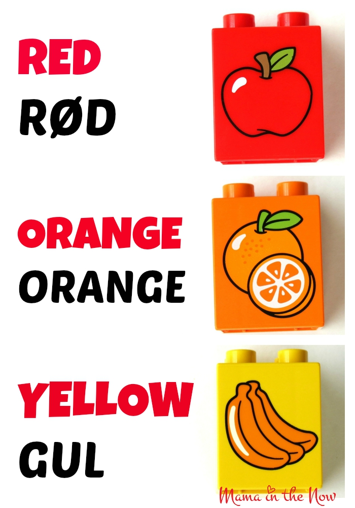 DUPLO Danish English Colors Flash Card