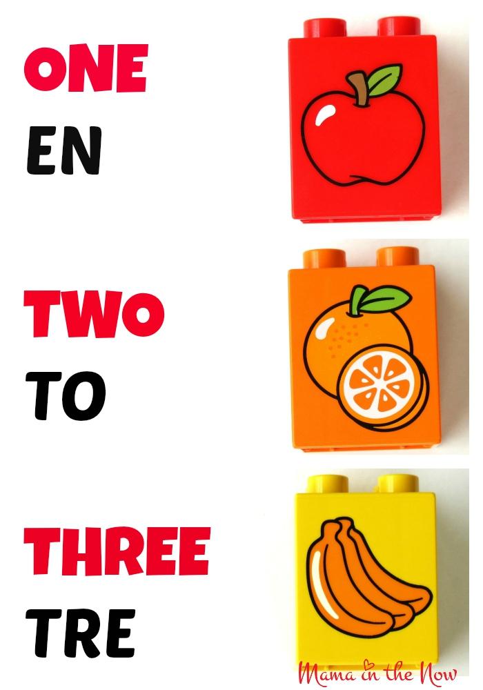 DUPLO Danish English Numbers Flash Card