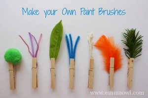Make your own paint brushes