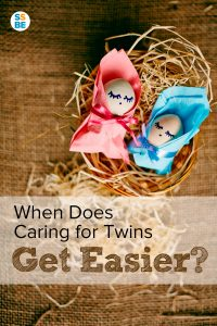 When does caring for twins get easier?