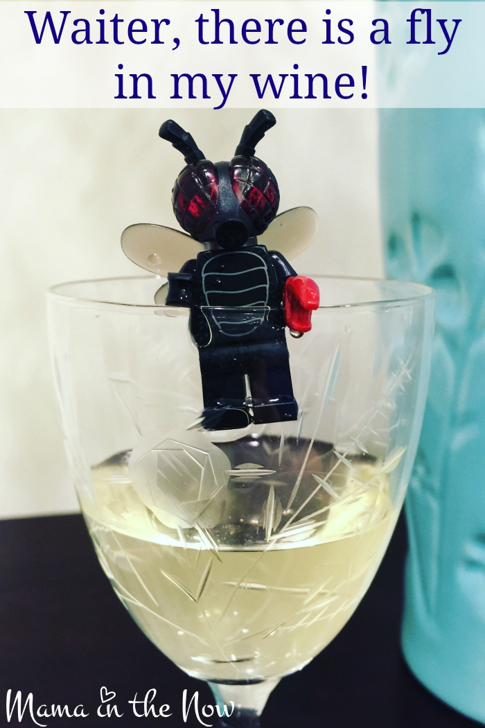 Waiter, there is a fly in my wine!Halloween with LEGO Minifigures. Follow @MamaintheNow on Instagram for all the latest adventures of the LEGO Minifigures.