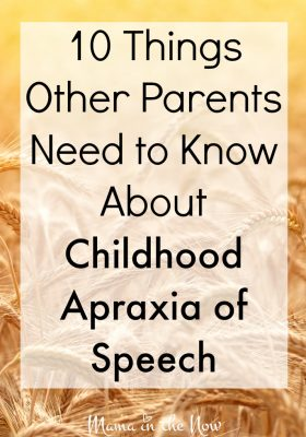 10 things other parents need to know about childhood apraxia of speech. This encouraging information is important for families affected by speech delays! A MUST READ from a family who has been trying to help their son for 4 years!