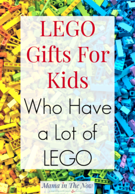 LEGO gifts for kids who have a lot of LEGO. A mother of four LEGO-loving boys gives her best shopping ideas and gift inspiration when LEGO is on the wish list. #LEGO #LEGOGifts #GiftsforBoys #LEGOGiftsforBoys #GiftsforGirls #GiftsforKids #LEGOIdeas #GiftGuide #GiftIdeas #MamaintheNow