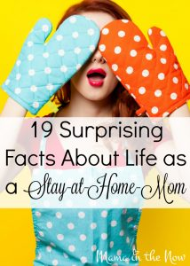 19 Surprising facts about life as a stay-at-home-mom (SAHM). Funny, yet encouraging observations about motherhood from a mother of four boys!