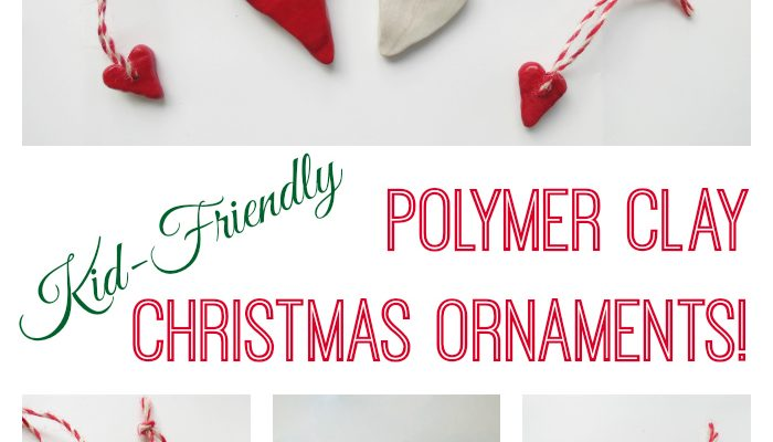 Kid-Friendly Polymer Clay Christmas Ornaments