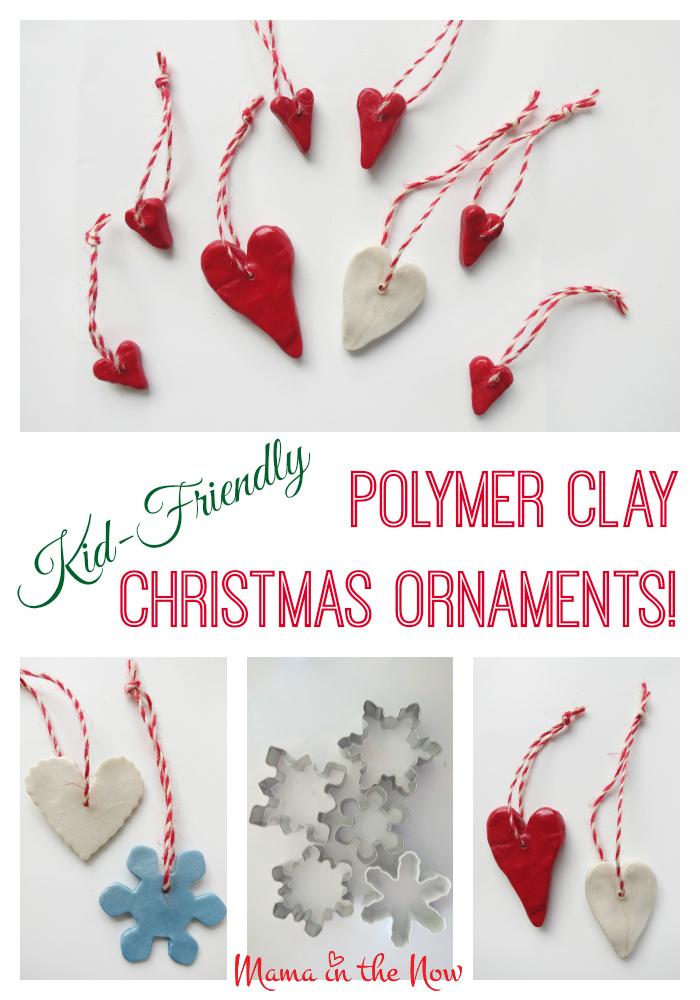 Kid Friendly Polymer Clay Christmas Ornaments