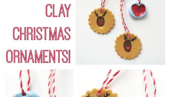 Thumb Print Polymer Clay Christmas Ornaments