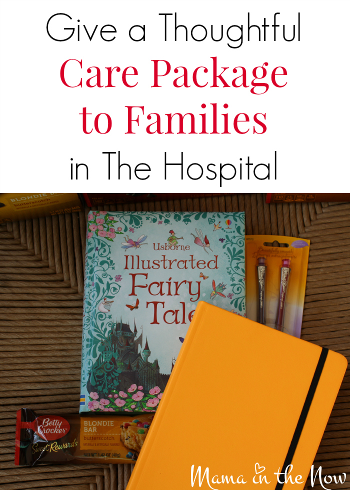 The 10 sweet and thoughtful things to put in a care package for parents with a sick child in the hospital. Medical moms will appreciate every item in this care package.
