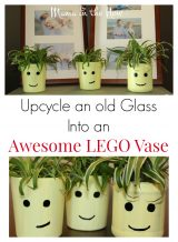 How to Upcycle an Old Glass Into an Awesome LEGO Vase
