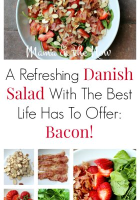 A refreshing Danish salad with the best life has to offer: Bacon! A quick and easy dinner shortcut! Family mealtime win!