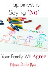 "Happiness is Saying ""NO!"" – Your Family Will Agree!"