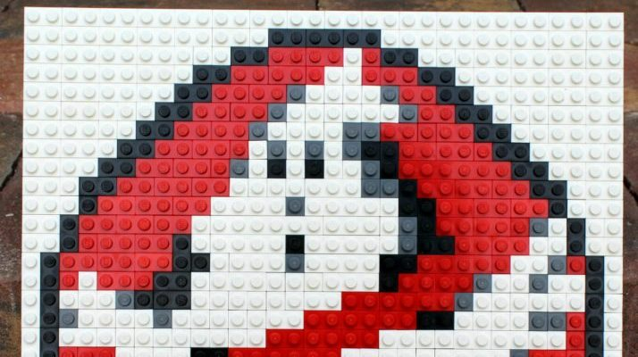 How to Make a Classic Ghostbusters LEGO Mosaic Pixel Art
