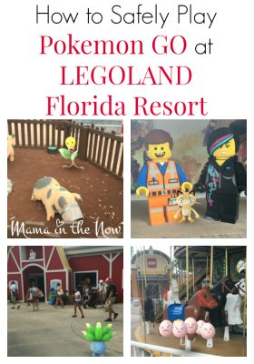 How to Safely Play Pokemon GO at LEGOLAND Florida Resort. Safety Guidelines for all the Pokemon GO players and LEGO fans.