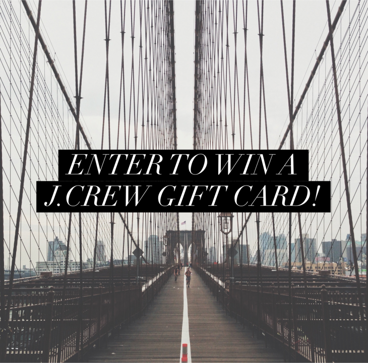 Enter to win a $200 J Crew gift card