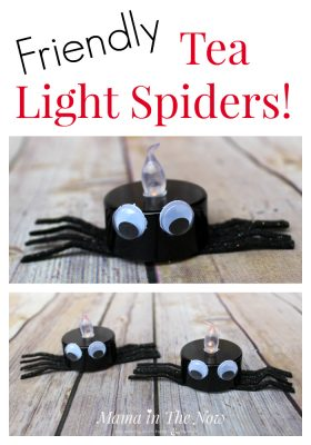 We love these fun and easy-to-make Halloween decorations. Host a Halloween party without spooky decor. Kid-friendly spiders, toddler and preschool activity.
