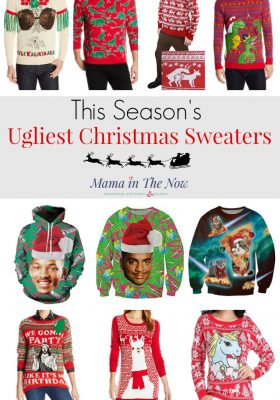 Meet new mom friends this Christmas season when you show up in the ugliest Christmas sweater this side of... unsightly. Start a new mom trend, flaunt your mom fashion and show everyone that you are the fun mom! Click for more ugliness.