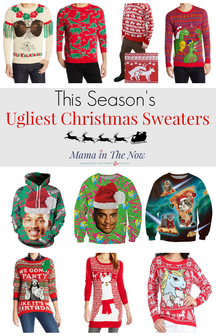Meet new mom friends this Christmas season when you show up in the ugliest Christmas sweaters this side of... unsightly. Start a new mom trend, flaunt your mom fashion and show everyone that you are the fun mom! Click for more ugliness.