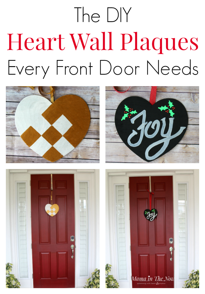 DIY wooden heart wall decor for the front door, over the mantel or to decorate the baby's nursery. Creative ideas to replace the Christmas wreath or to make a cute Valentine's Day decoration. Click for ideas and inspiration.