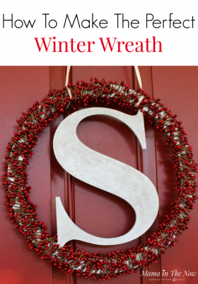 The perfect winter wreath for when it's too late for a Christmas wreath, but too early for a Valentine's Day Wreath! DIY Wreath for your front door!