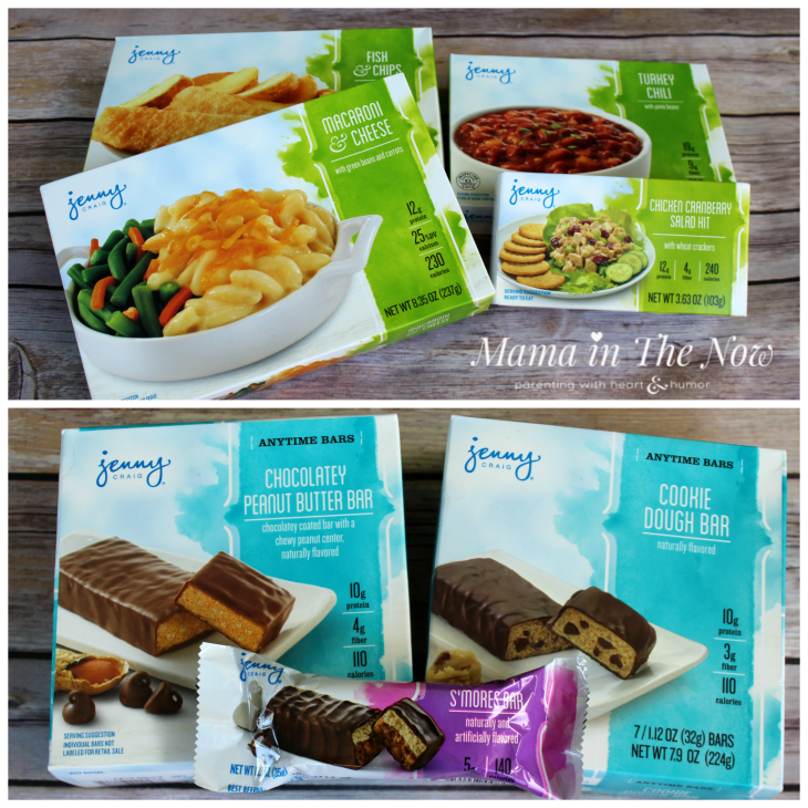 Jenny Craig's wide variety of foods, never leaving you hungry or craving anything.