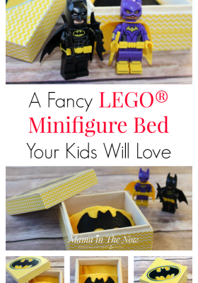 Tired of searching for lost LEGO Minifigures? Make them a bed, perfect LEGO storage solution for your child's favorite LEGO Minifigure.