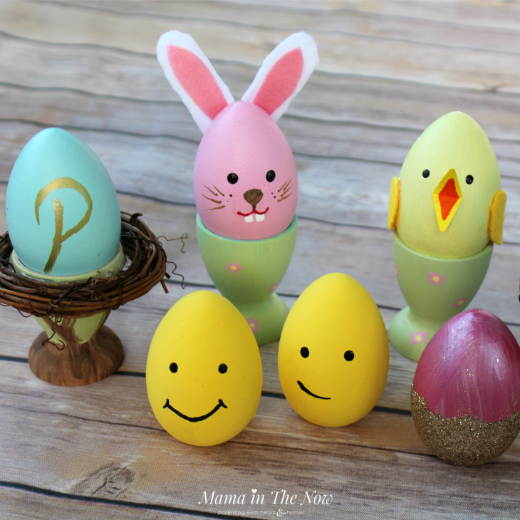 Inspiration for painted wooden Easter Eggs. Great Easter craft for kids, tweens and teens.