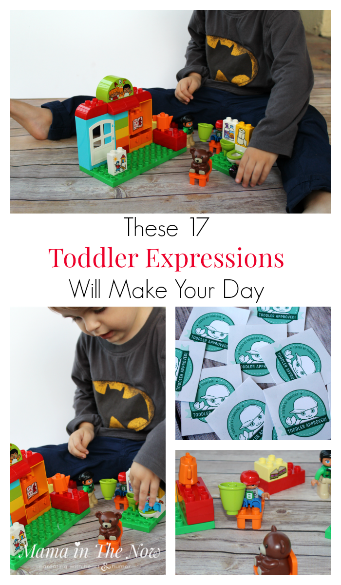 Child's play, toddler play - watching the kids use their imagination with LEGO DUPLO melts my heart. Sweet and funny post.
