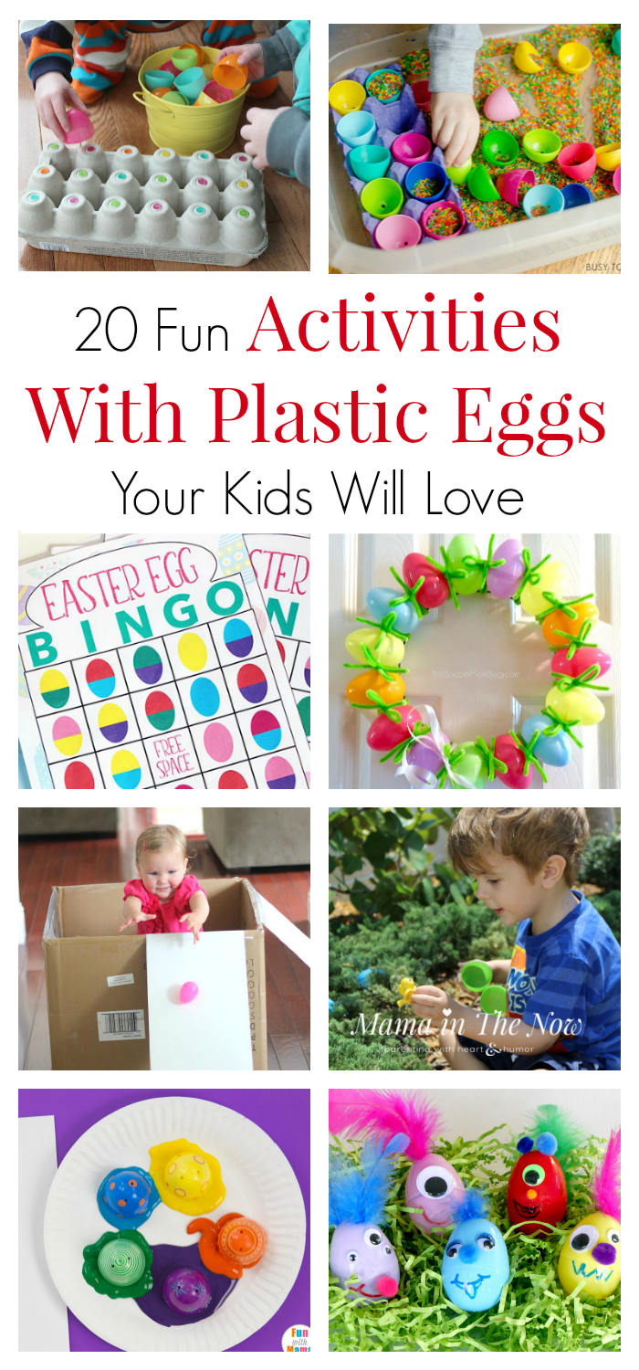 Plastic Easter eggs are fun and perfect for educational and creative ideas. Learn colors and letter and number recognition with plastic eggs. Get creative with your leftover Easter eggs. Activities for toddlers, preschoolers and kids of all ages. Easter egg activities. Activities with plastic eggs.