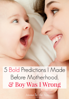 Before motherhood we are all parenting experts. This mother shares her hilarious bold predictions of how she was going to ace motherhood and parenting. This will make your day!
