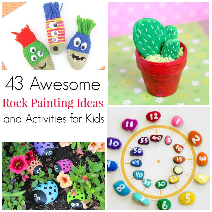 Awesome rock painting ideas and activities for kids. Frugal fun with mother nature, rainy day projects!