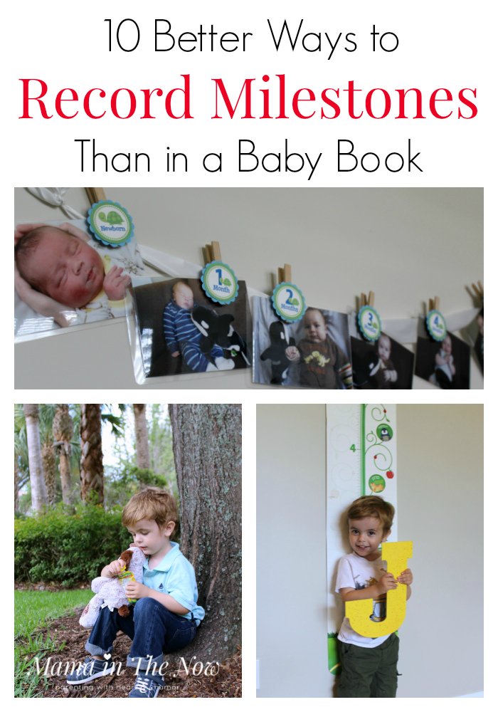 Frugal and fun ways to record milestones for your baby, toddler and older kids. Save money, your sanity and lots of time!
