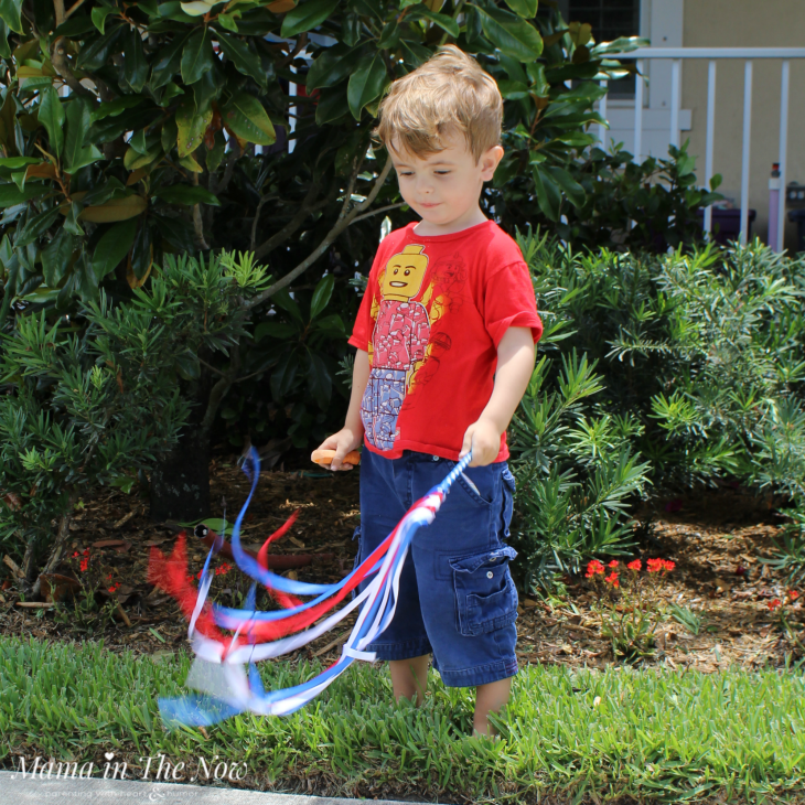 Toddlers and preschoolers love to dance with and wave ribbon wands. Great gross motor skill development tool. Sensory fun.
