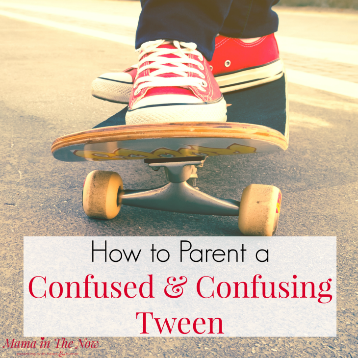 How to parent a confused and confusing tween, from a mother of four. Parenting tips and motherhood encouragement for tween moms.