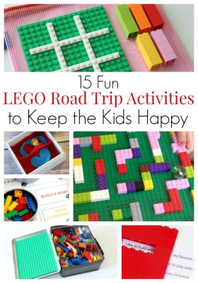 "Fun LEGO road trip (and airplane) activities to keep the kids happy and have the family vacation of your dreams. LEGO building challenges, educational LEGO games and activities, printables using LEGO bricks and DUPLO. LEGO fun for toddlers, kids, tweens and teens. You won't hear ""are we there yet"" for hours!"