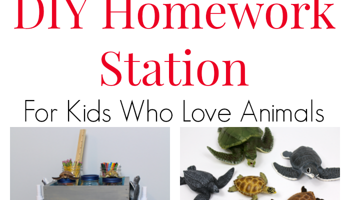 How to DIY a Homework Station for Kids Who Love Animals